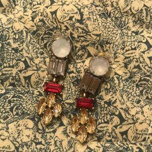 NWOT Jewel statement earrings